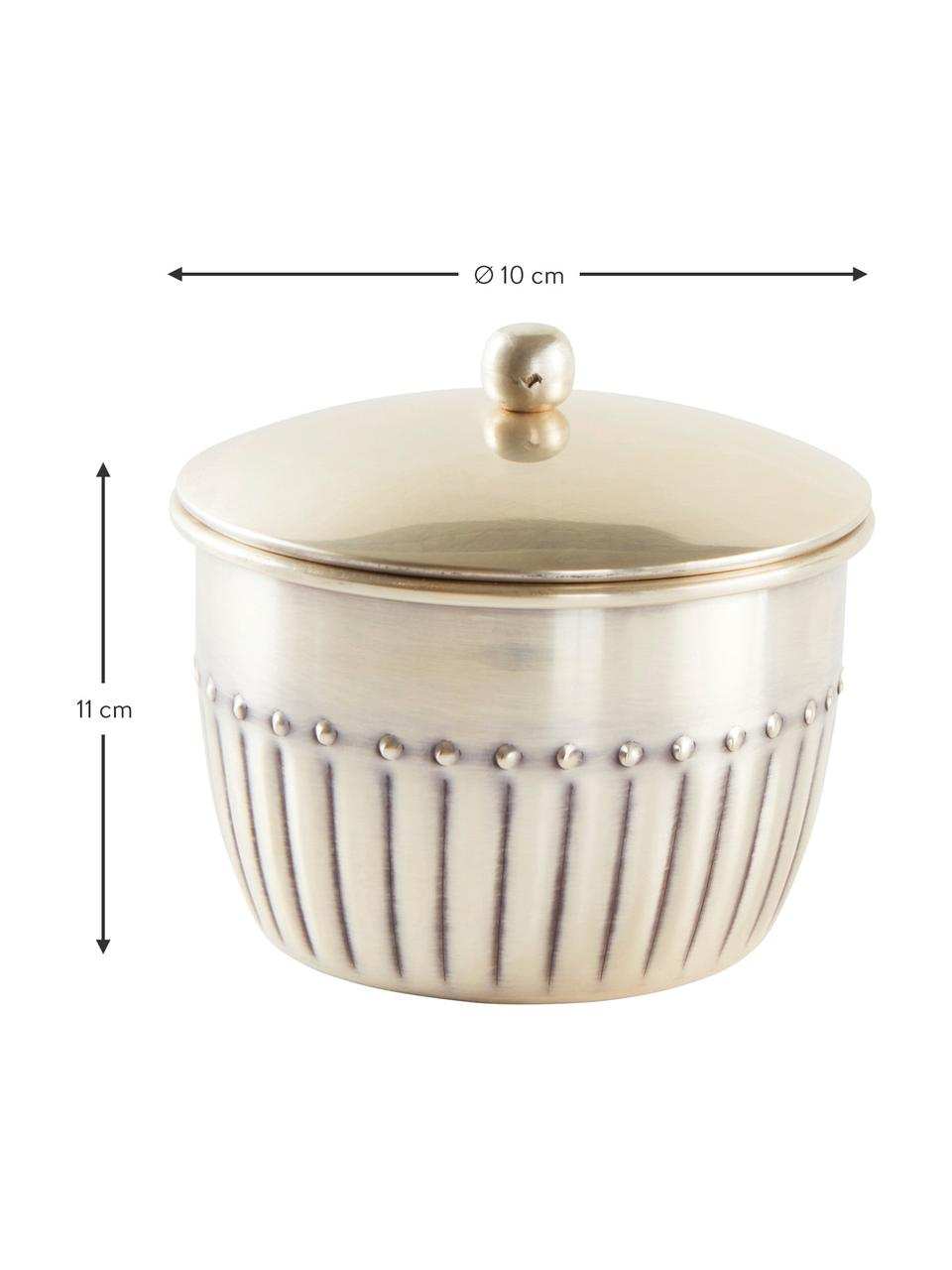 Aufbewahrungsdose Alida, Metall, Antik-Silber, Ø 10 x H 11 cm
