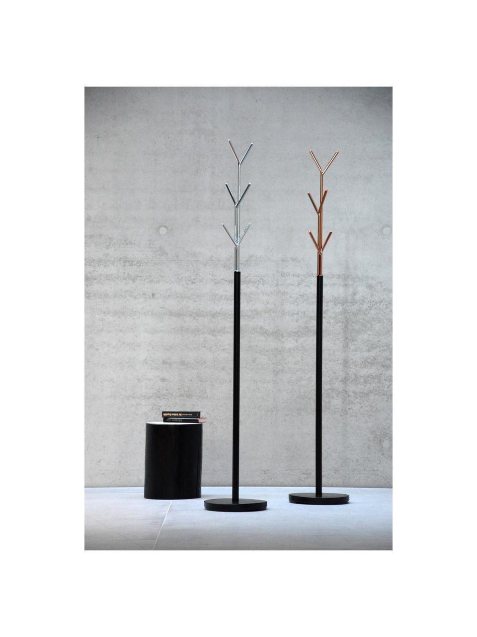 Appendiabiti London, Struttura: tubo di acciaio, vernicia, Nero, rame, Ø 31 x Alt. 177 cm