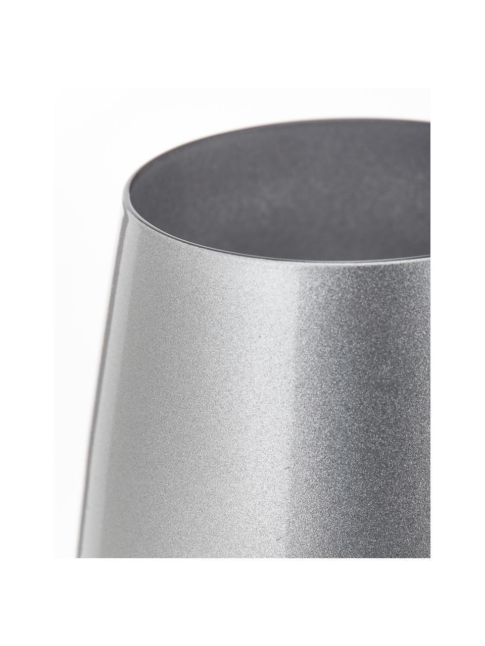 Szklanka do koktajli ze szkła kryształowego Elements, 6 szt., Szkło kryształowe, powlekane, Odcienie srebrnego, Ø 9 x W 12 cm