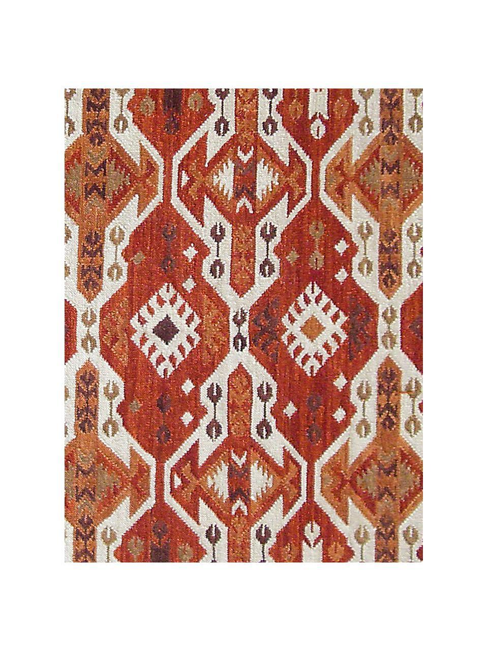 Ręcznie tkany dywan kilim z wełny Ria, 100% wełna Włókna dywanów wełnianych mogą nieznacznie rozluźniać się w pierwszych tygodniach użytkowania, co ustępuje po pewnym czasie, Czerwony, beżowy, pomarańczowy, brązowy, S 155 x D 240 cm (Rozmiar M)