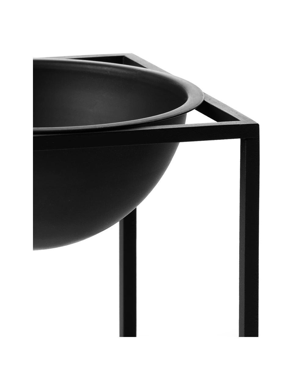 Ciotola Kubus, Acciaio verniciato, Nero, L 14 x A 14 cm