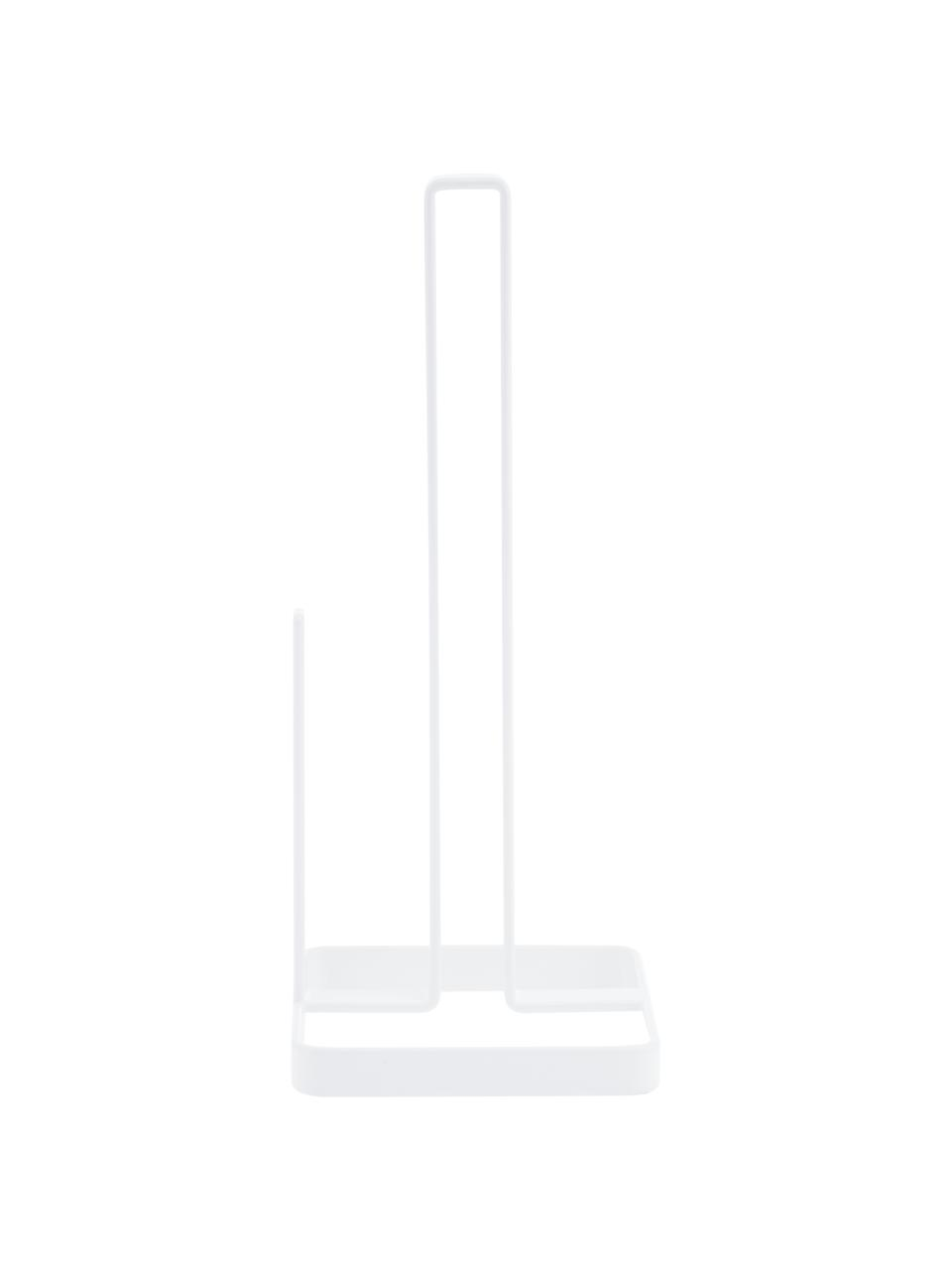 Küchenrollenhalter Tower, Stahl, beschichtet, Weiß, 11 x 27 cm