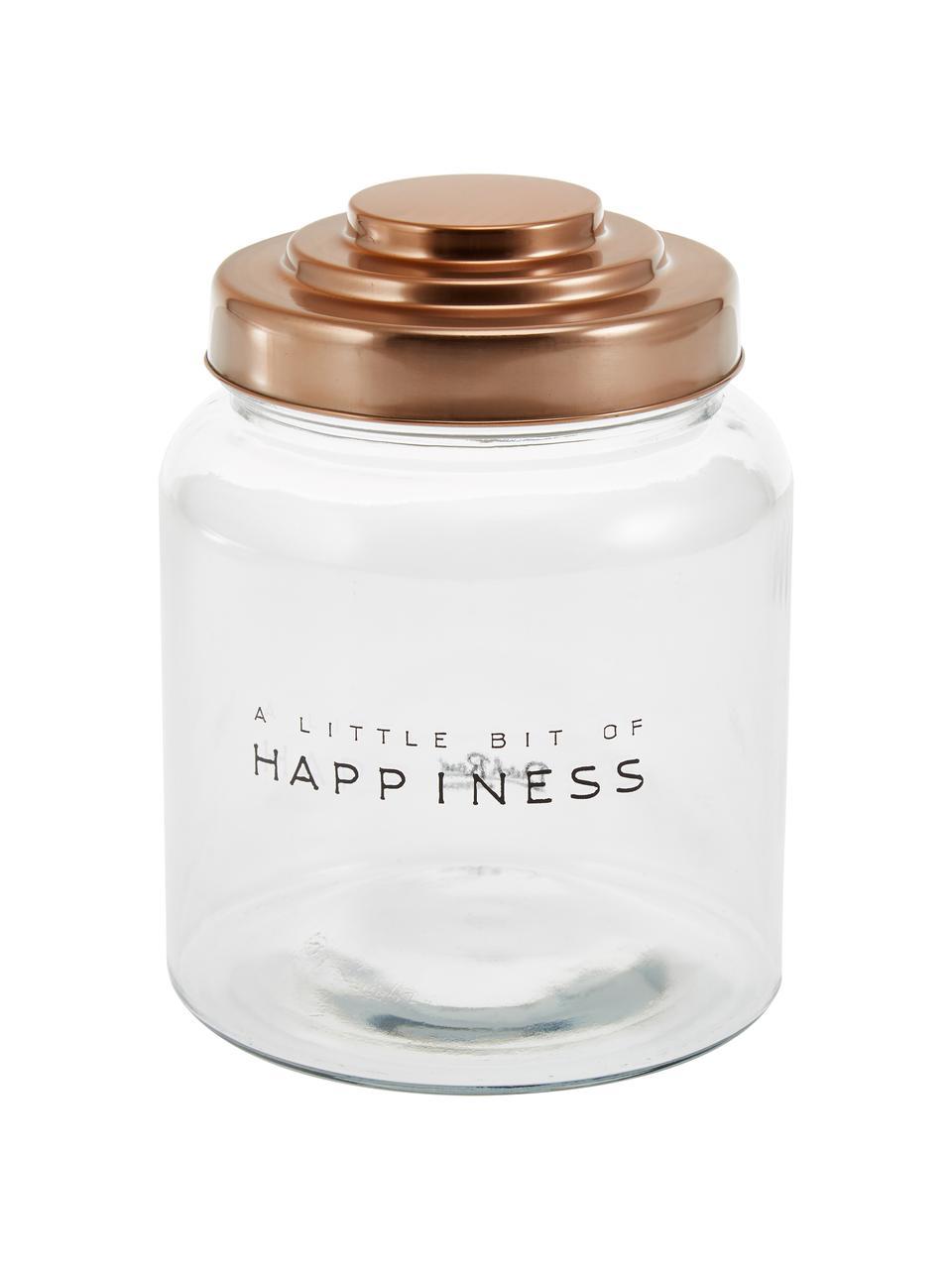 Pojemnik do przechowywania Happiness, Transparentny, Ø 16 x W 21 cm