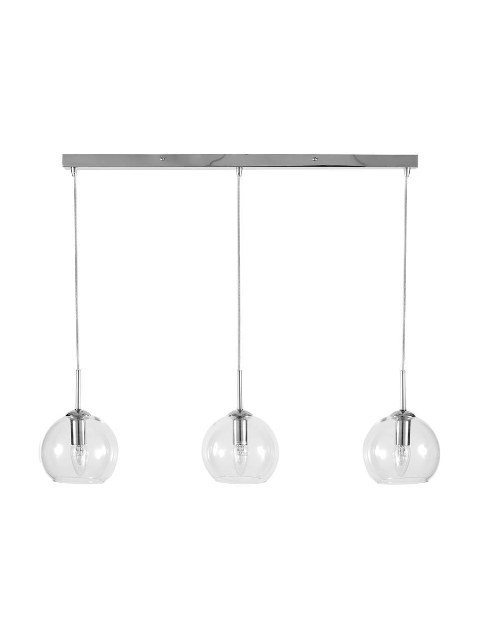Suspension 3 lampes Hamilton, Transparent