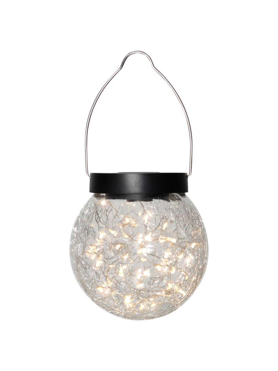 Wisząca lampa solarna ze szkła Glory, Transparentny, Ø 12 x W 13 cm