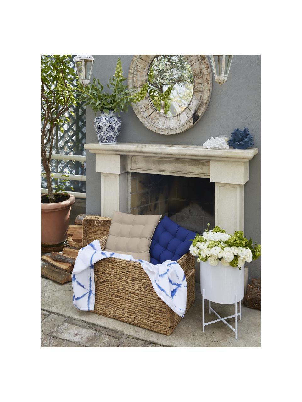 Sitzkissen Ava in Taupe, Bezug: 100% Baumwolle, Beige, 40 x 40 cm