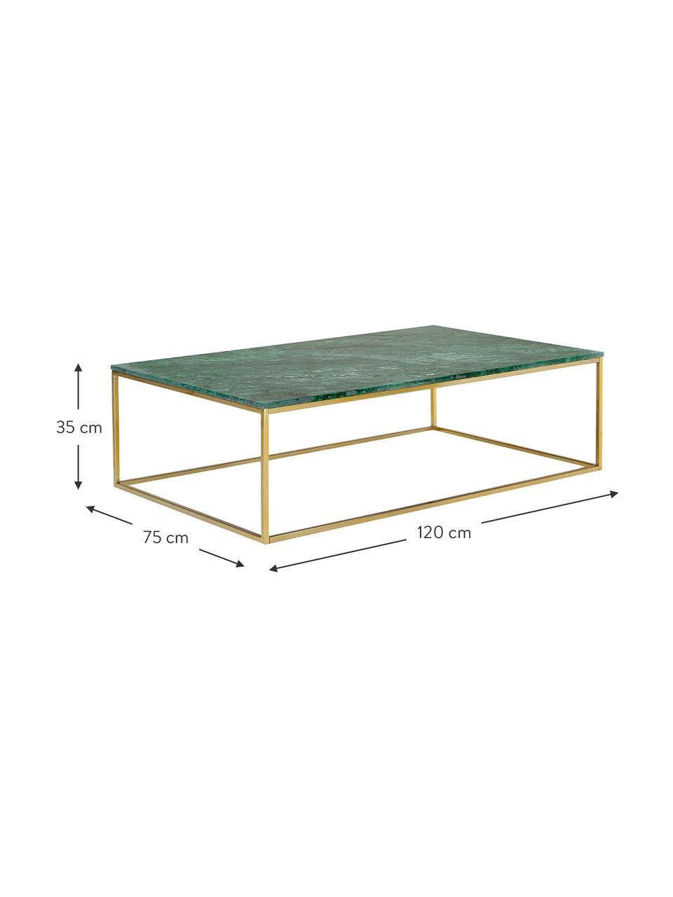 Grande table basse en marbreAlys, Marbre vert, couleur dorée