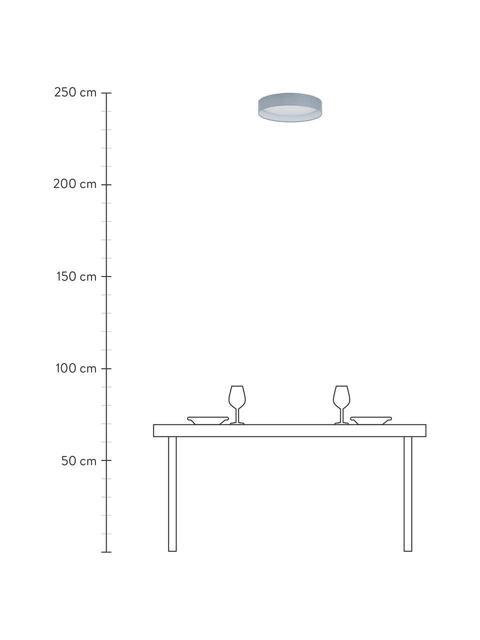 LED plafondlamp Helen in grijs, Frame: metaal, Diffuser: kunststof, Grijs, Ø 52 x H 11 cm