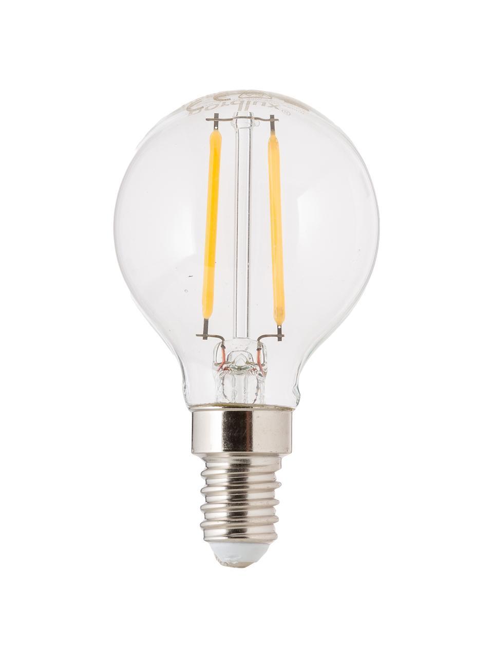 Lampadina E14, 2,5W, bianco caldo, 5 pz, Paralume: vetro, Base lampadina: alluminio, Trasparente, Ø 5 x Alt. 8 cm