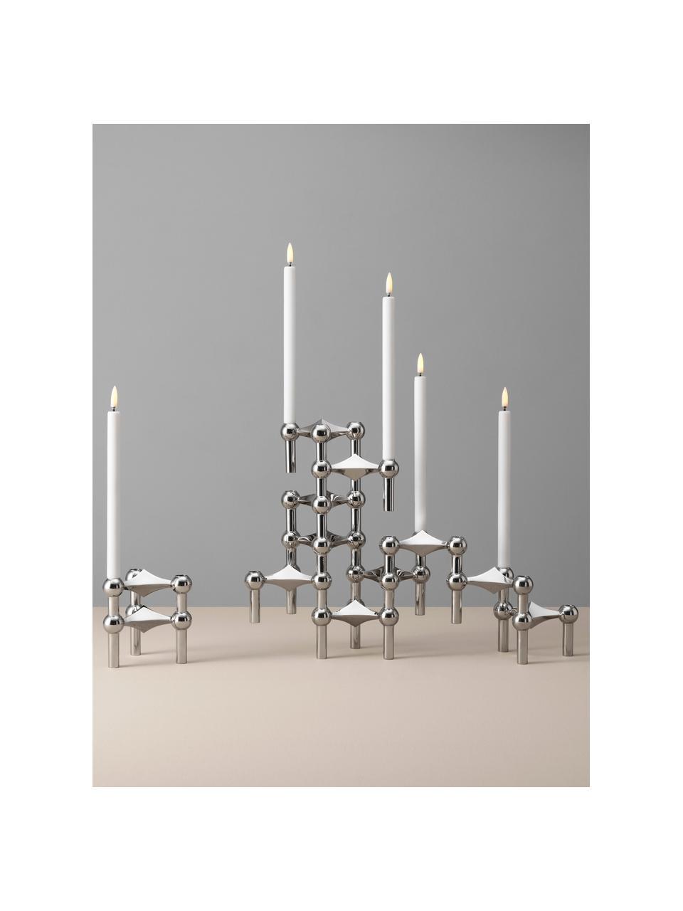 Velas pillar LED Uyuni Lighting, 2uds., Plástico, Blanco, Ø 1 x Al 20 cm