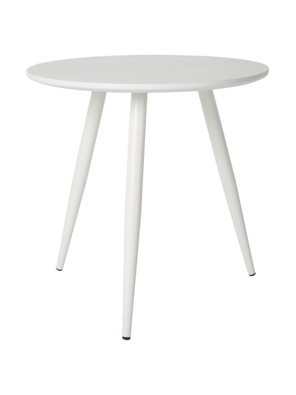 Bijzettafelset Daven in wit, 2-delig, Tafelblad: PU-gelakt MDF, Poten: gepoedercoat metaal, Wit, Set met verschillende formaten