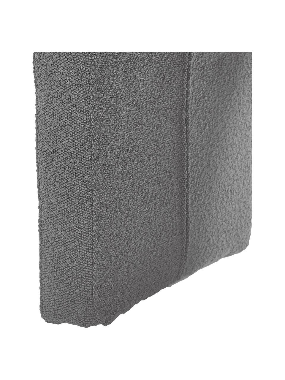 Tabouret en tissu bouclé Pénélope, Tissu bouclé gris