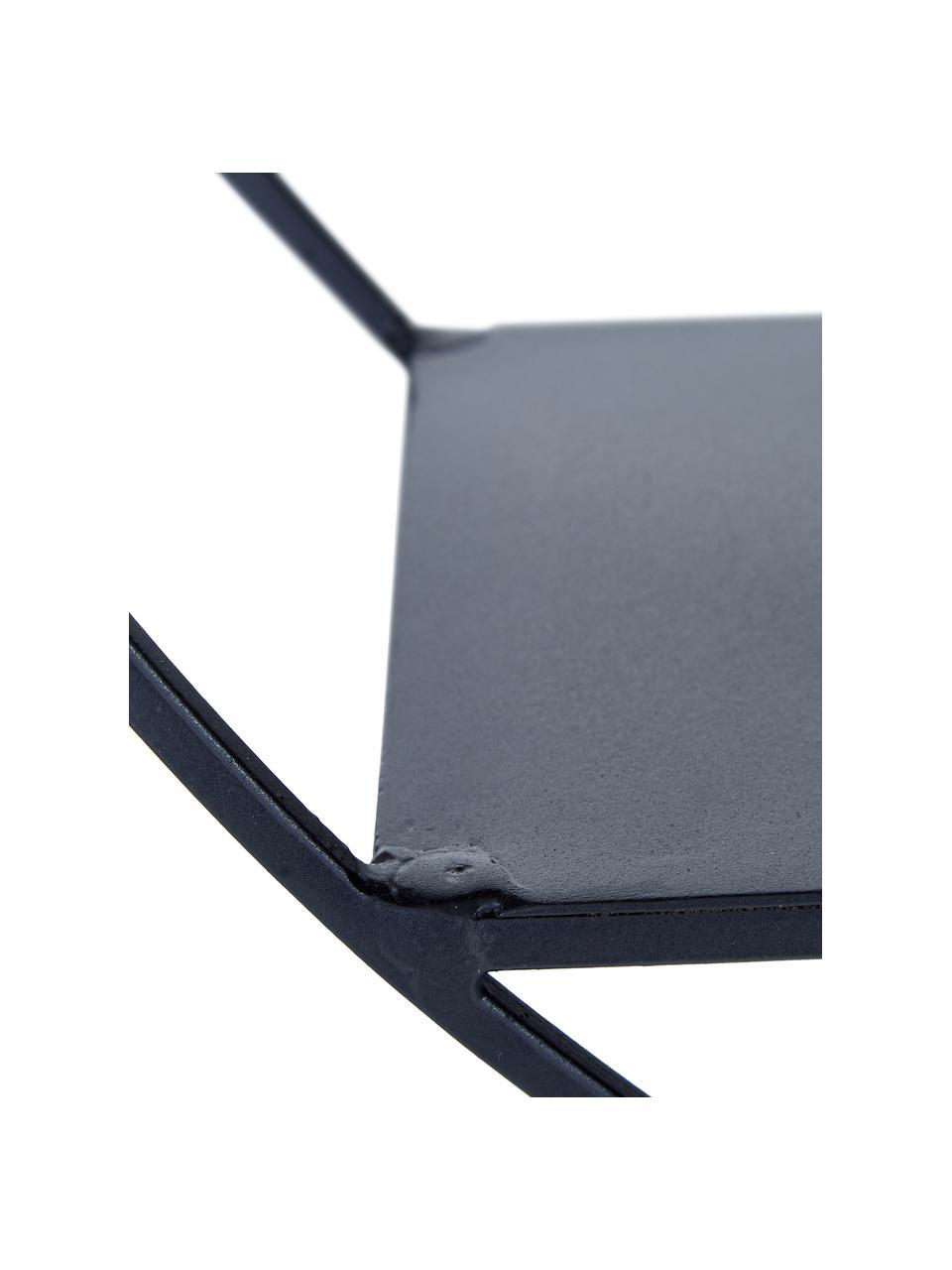 Mała dekoracyjna półka ścienna z metalu Expo, Metal malowany proszkowo, Czarny, Ø 61 x G 16 cm