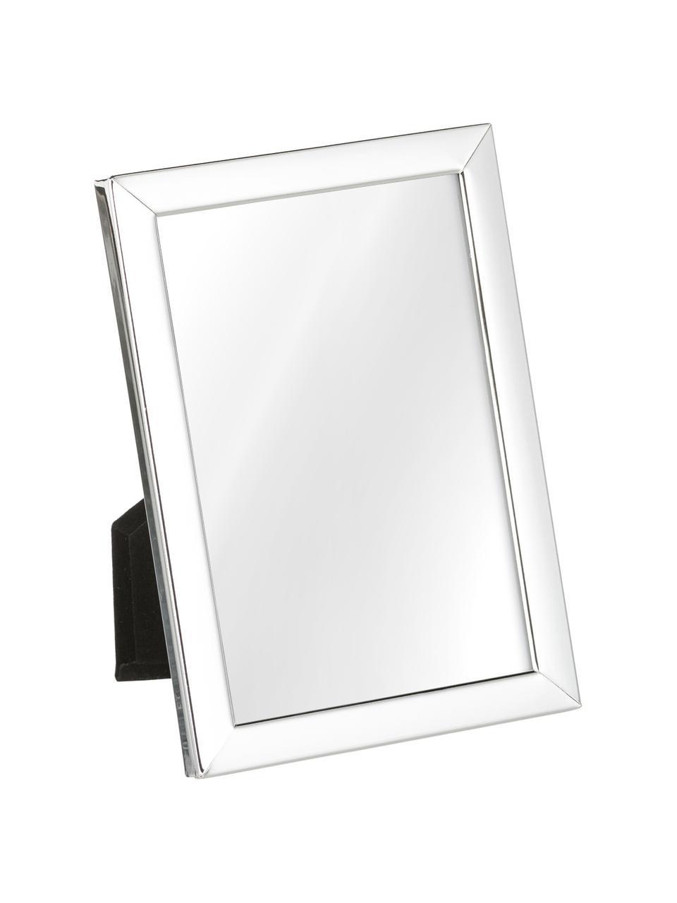 Bilderrahmen Aosta, Rahmen: Metall, versilbert, Front: Glas, Rückseite: Mitteldichte Faserplatte , Silber, 10 x 15 cm