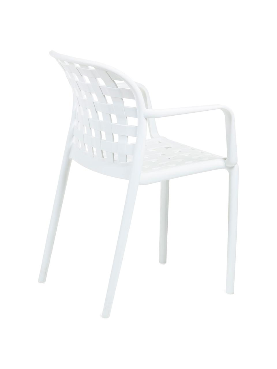 Stohovatelná zahradní židle z umělé hmoty Isa, 2 ks, Bílá
