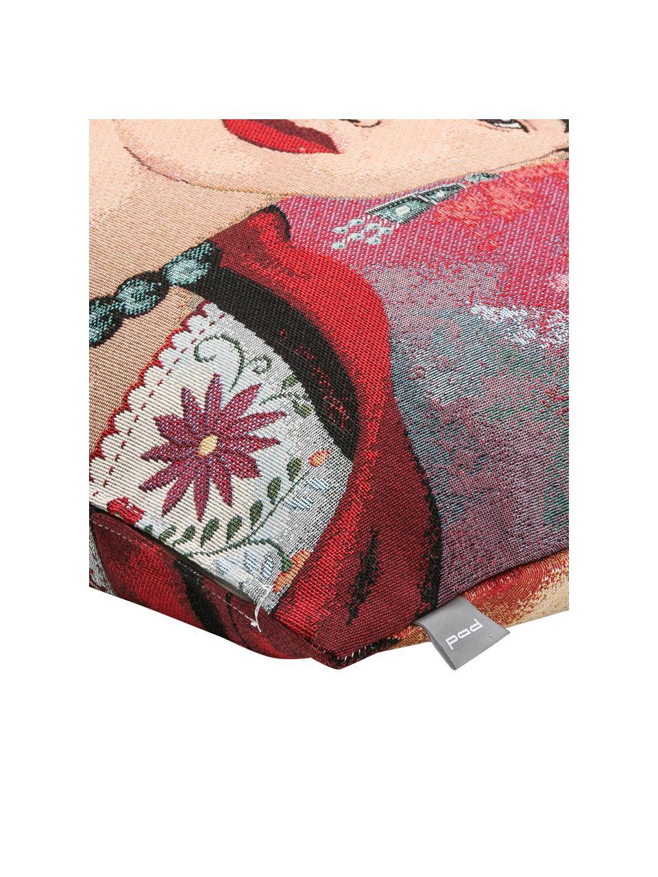 Kissenhülle Legend in Bunt, 50% Baumwolle, 45% Polyester, 5% Polyacrylnitril, Mehrfarbig, 45 x 45 cm