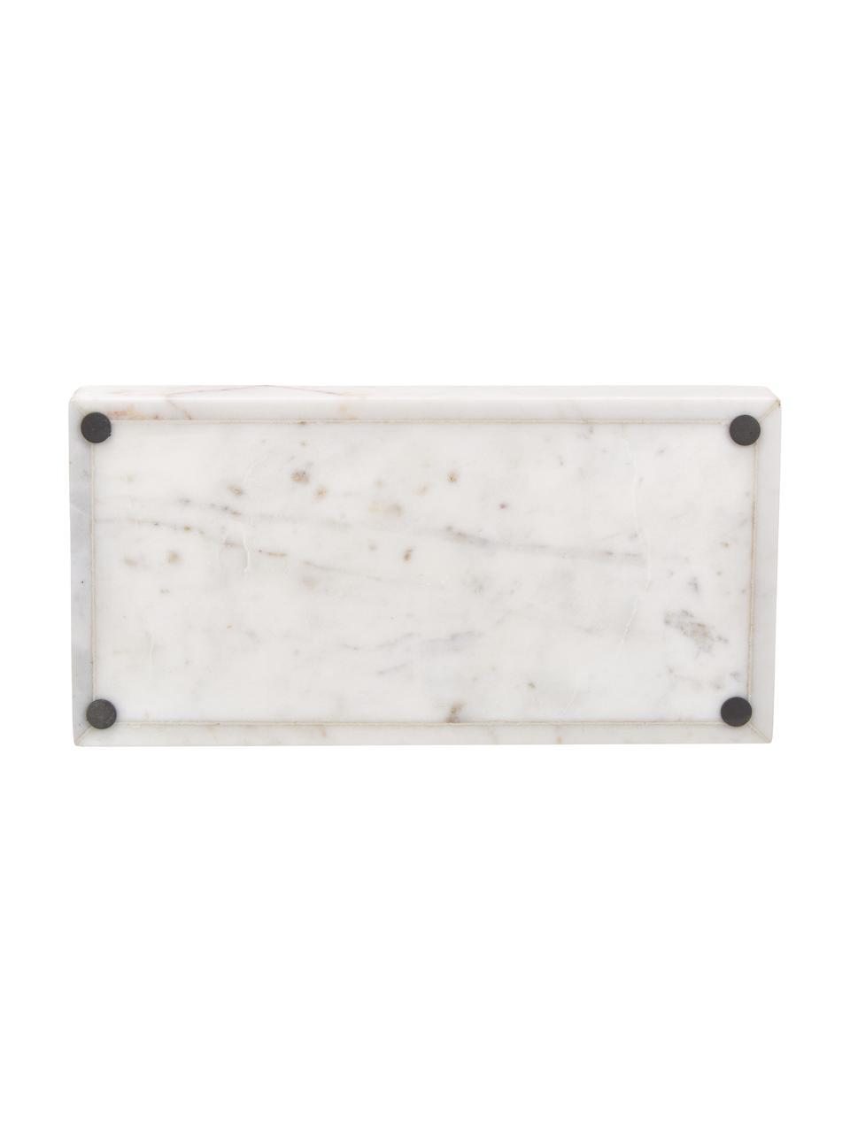 Taca dekoracyjna z marmuru Sienna, Marmur, Biały, S 15 x W 4 cm