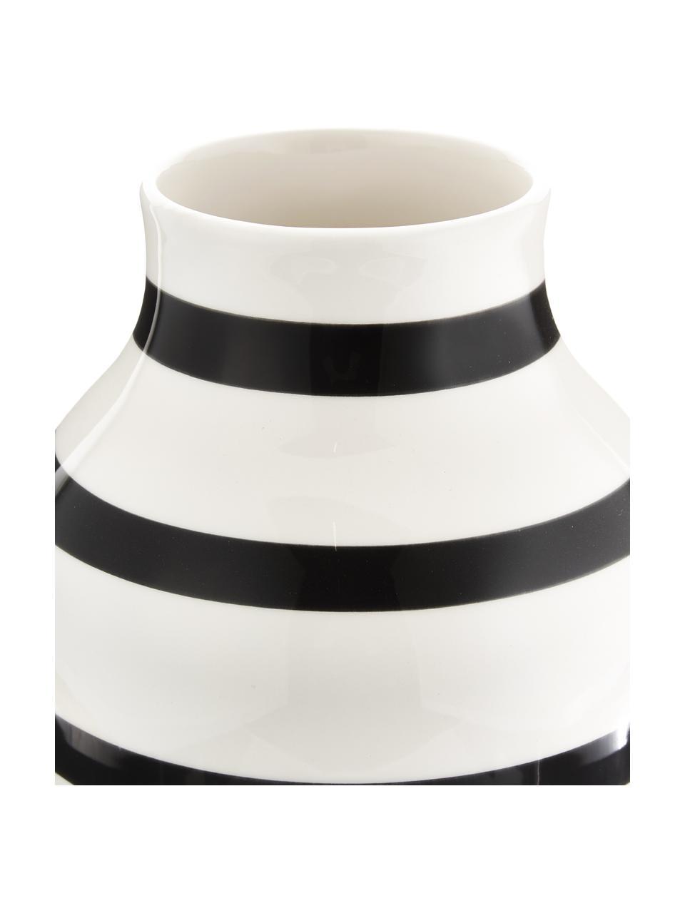 Vaso di design fatto a mano Omaggio, Ceramica, Nero, bianco, Ø 20 x Alt.31 cm
