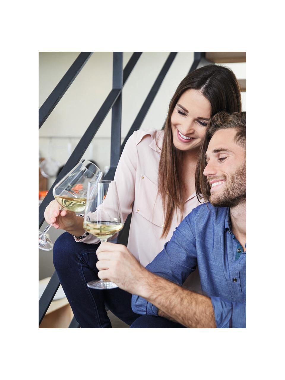 Verre à vin blanc moderne Puccini, 6pièces, Transparent