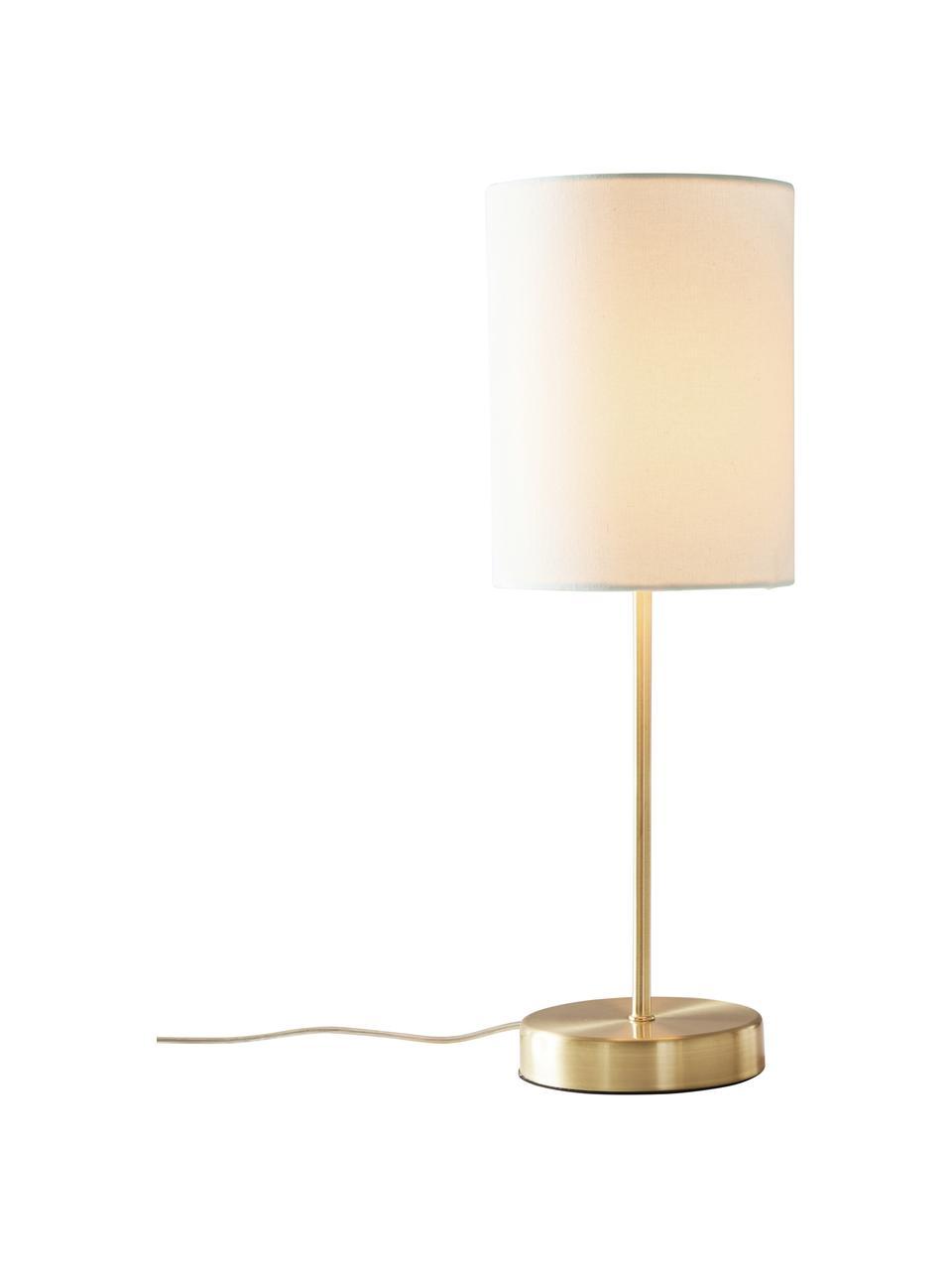 Lampka nocna Seth, 2 szt., Biały, odcienie mosiądzu, Ø 15 x W 45 cm