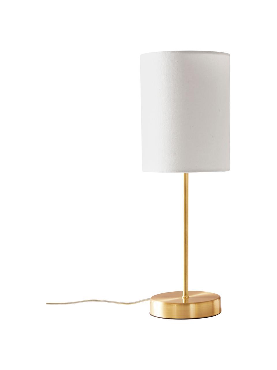 Lampa nocna Seth, 2 szt., Biały, odcienie mosiądzu, Ø 15 x W 45 cm