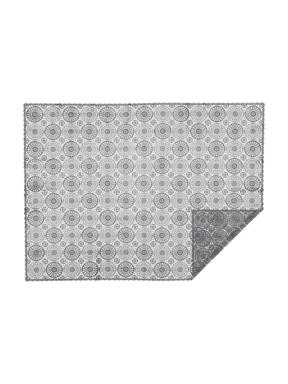 Tafelkleed Crochet in gehaakte look van kunststof, Kunststof (PVC), Zwart, Voor 4 - 6 personen (B 137 x L 180 cm)