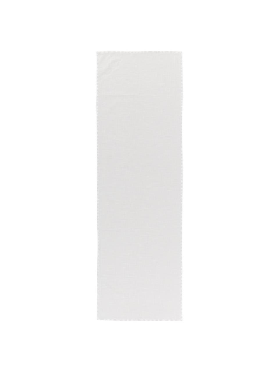 Baumwoll-Tischläufer Finca in Grau, Baumwolle, Grau, 50 x 160 cm