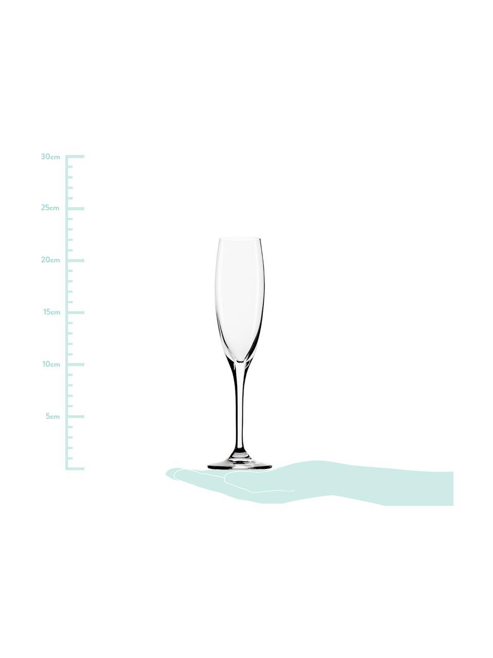 Sada křišťálových sklenic na sekt Vinea, 6 dílů, Transparentní