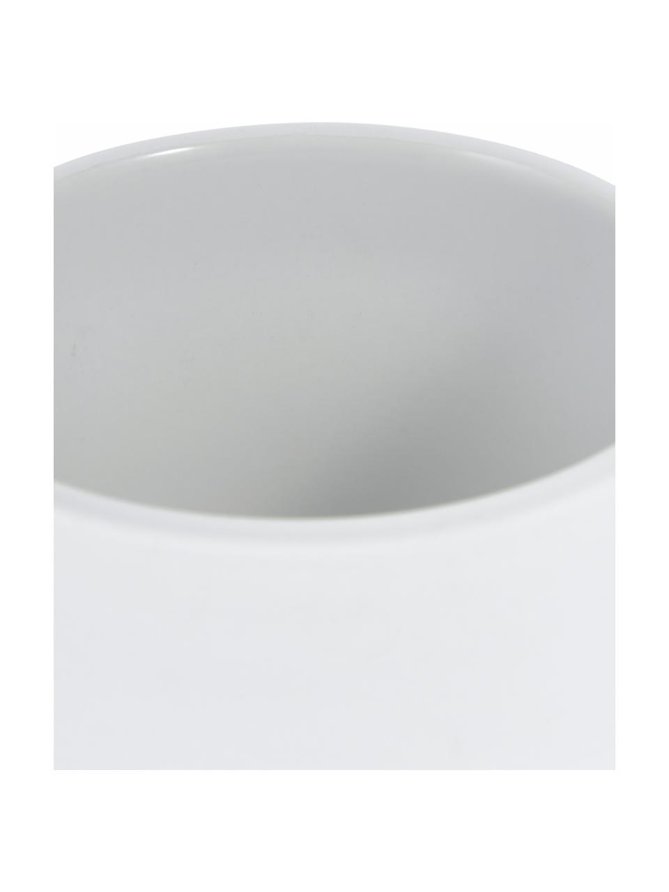 Dozownik do mydła z kamionki Ume, Biały, matowy, Ø 8 x W 13 cm