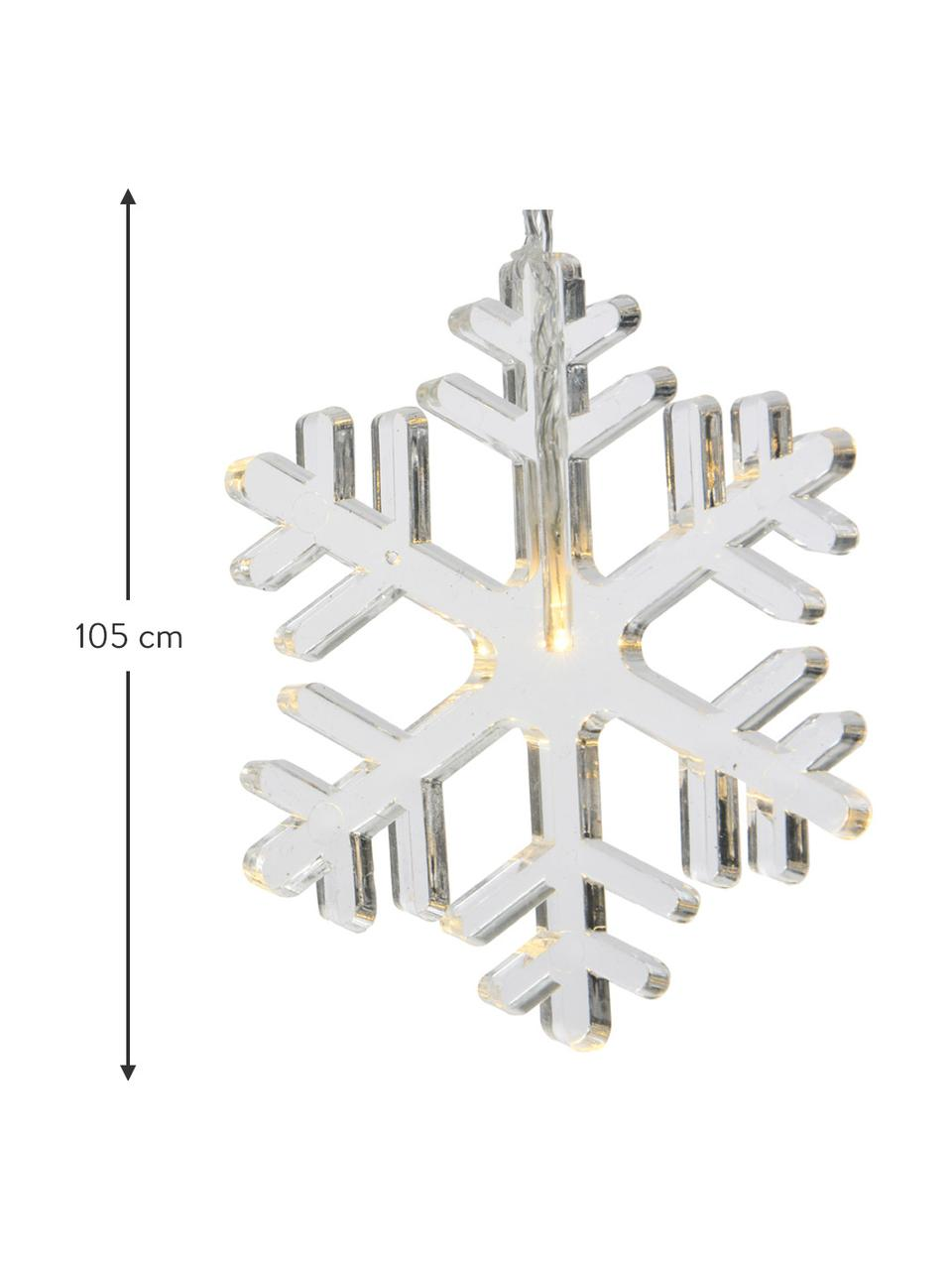 LED-Lichterkette Frost L 105 cm, Kunststoff, Transparent, L 105 cm