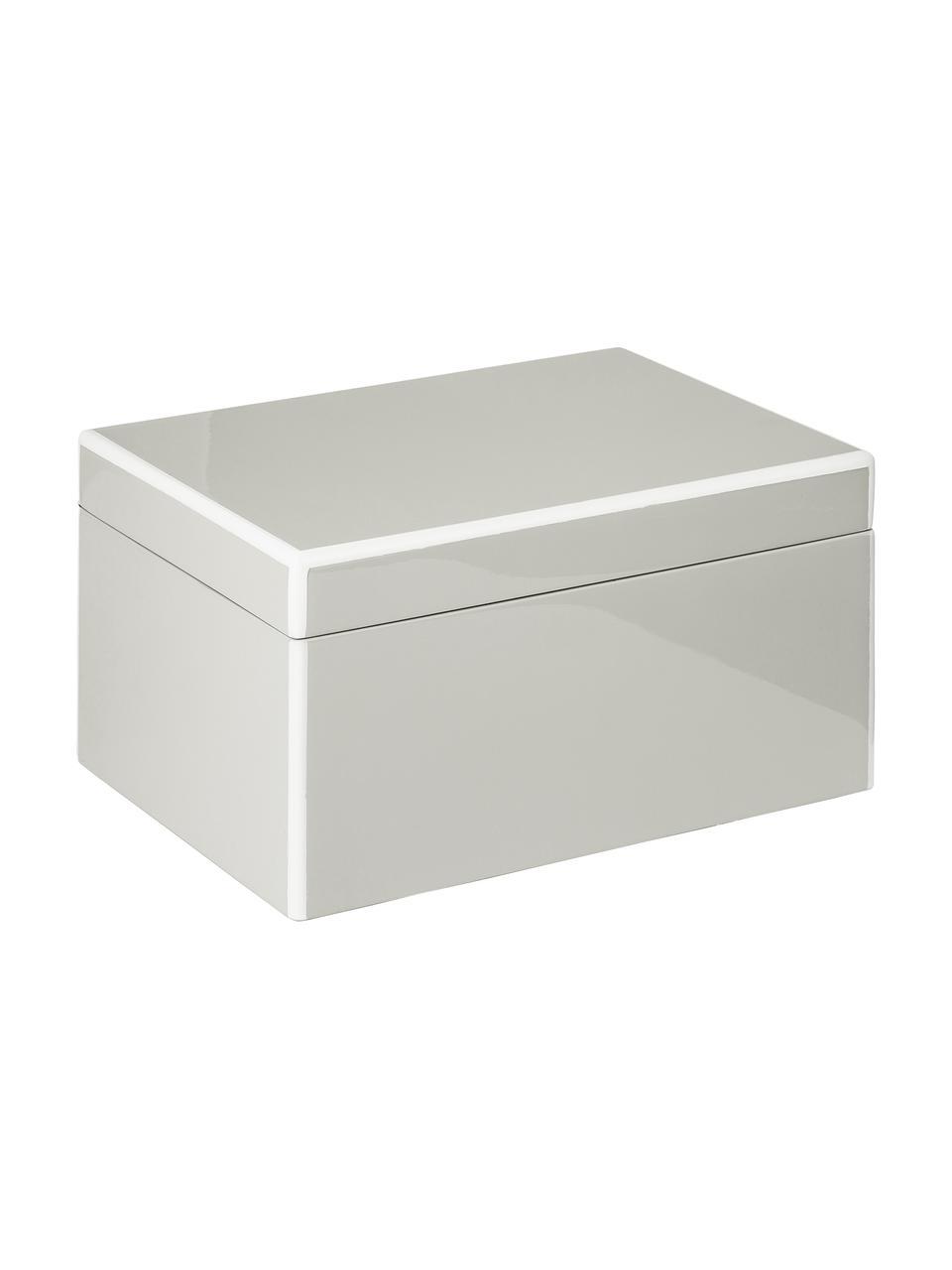 Schmuckbox Taylor mit Spiegel, Unterseite: Samt zur Schonung der Möb, Grau, 26 x 13 cm