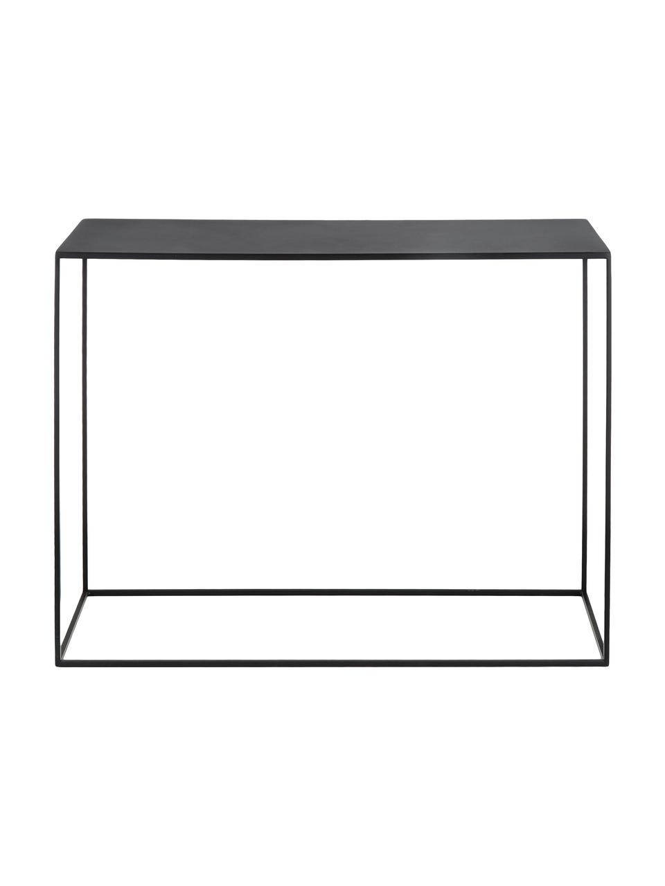 Consolle in metallo nero Tensio, Metallo verniciato a polvere, Nero, Larg. 100 x Prof. 35 cm