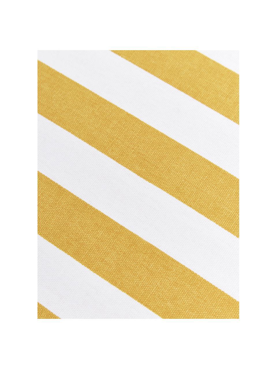 Hohes Sitzkissen Timon in Gelb/Weiß, gestreift, Bezug: 100% Baumwolle, Gelb, 40 x 40 cm