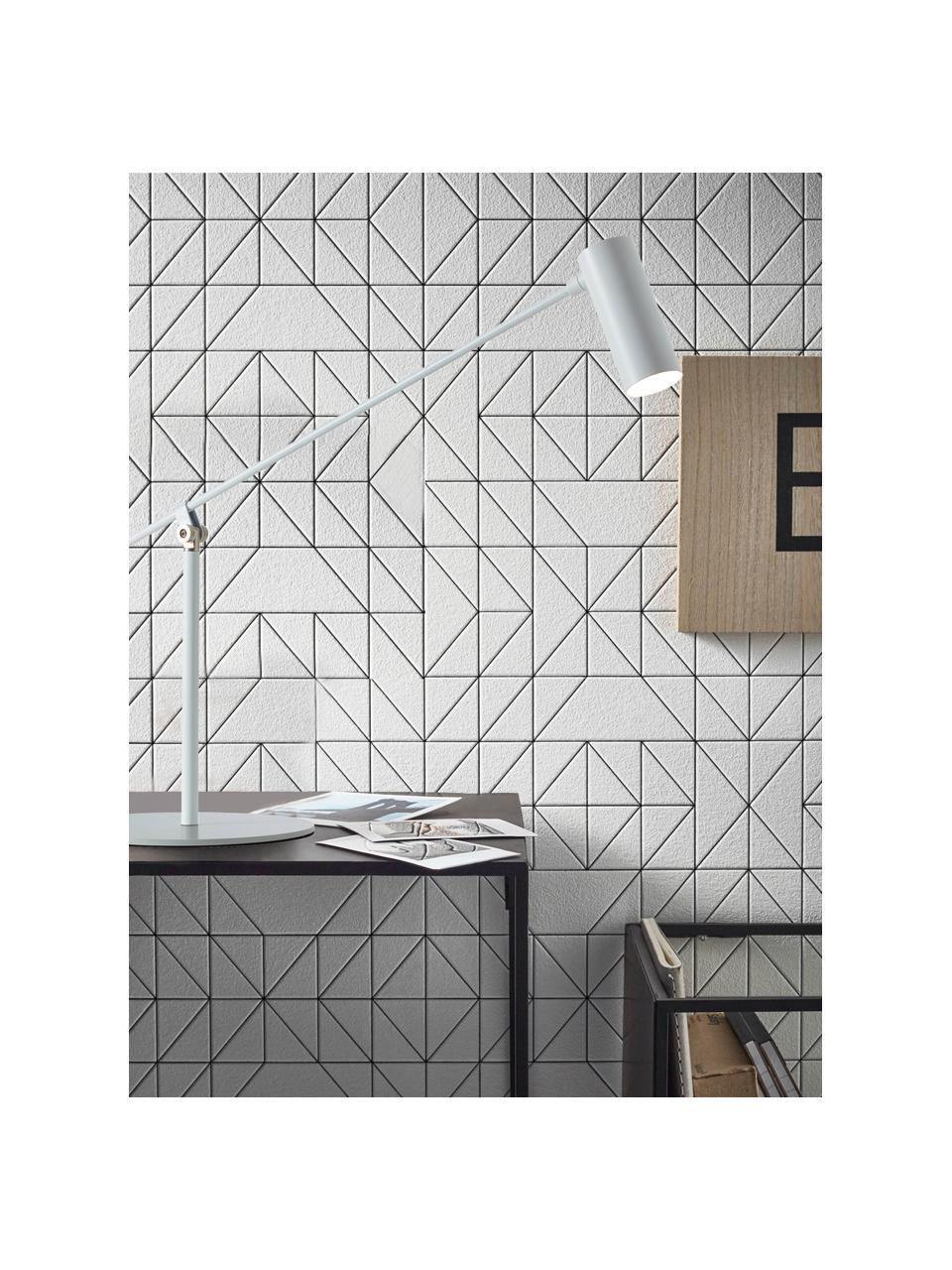 Große LED-Schreibtischlampe Wova, Lampenschirm: Metall, beschichtet, Lampenfuß: Metall, beschichtet, Dekor: Metall, Weiß, 20 x 74 cm