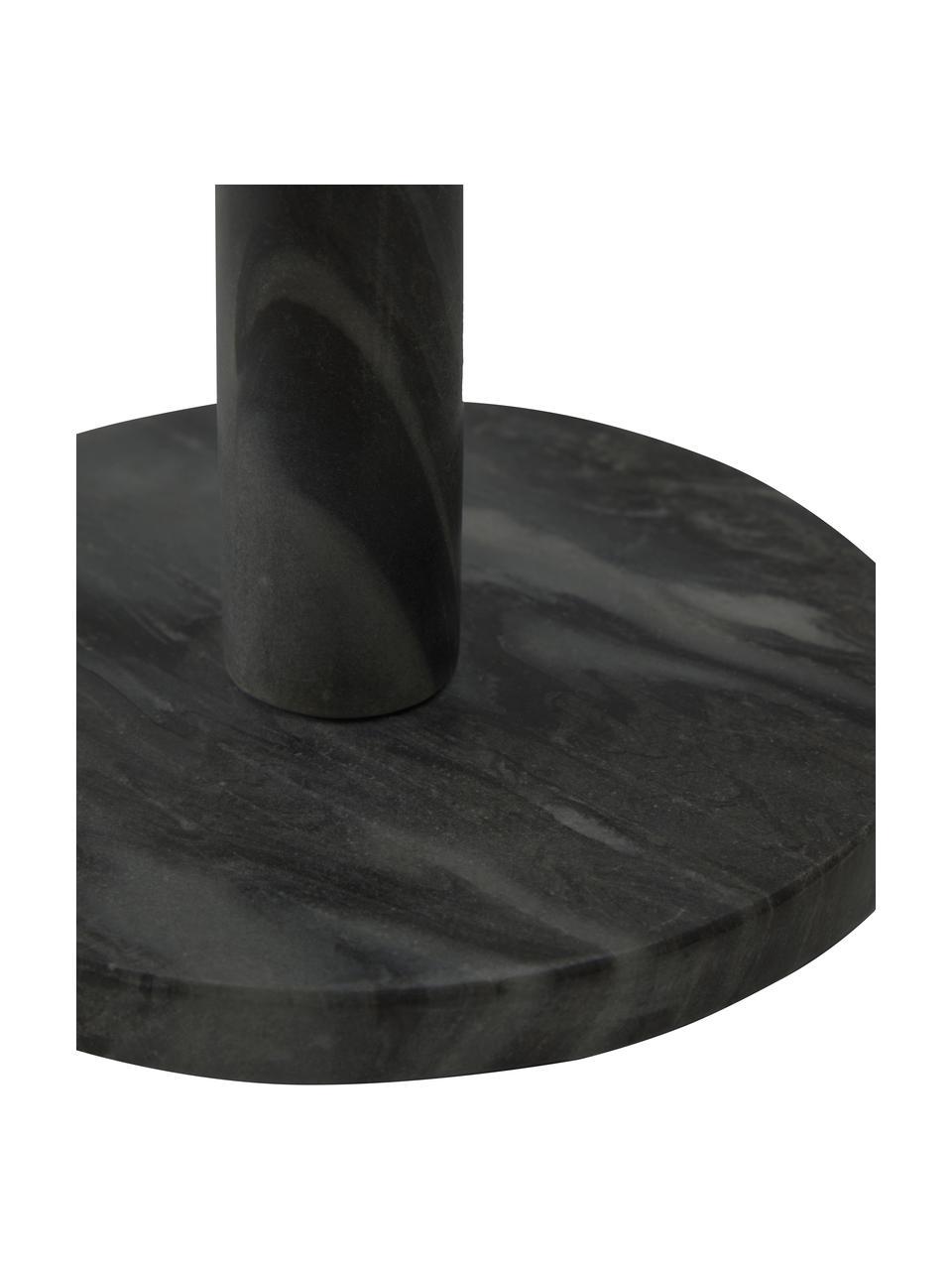 Uchwyt na ręcznik kuchenny z marmuru Johana, Marmur, Czarny, marmurowy, Ø 15 x W 30 cm