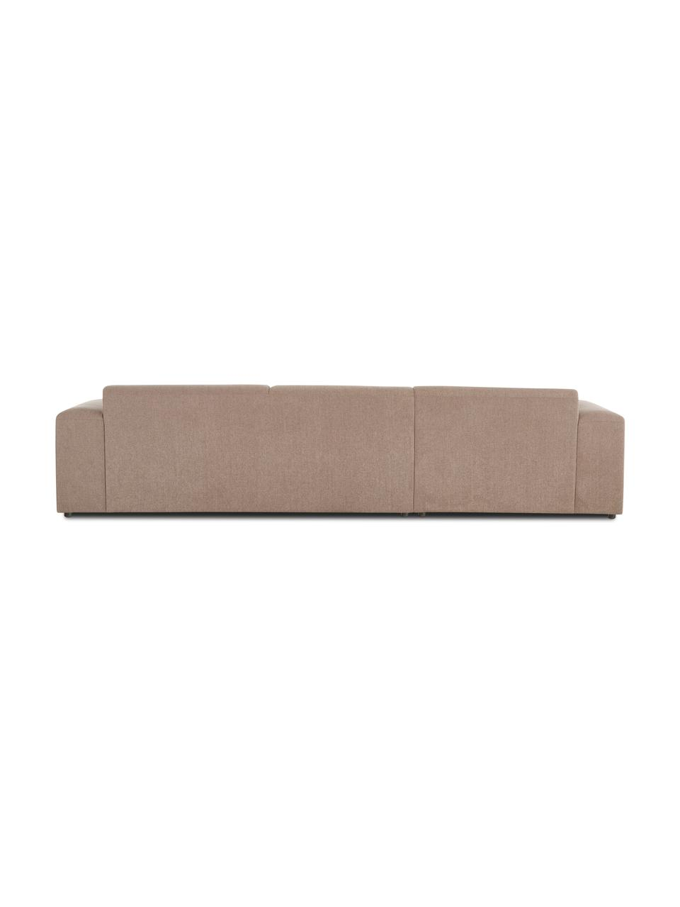 Canapé d'angle 4 places taupe Melva, Tissu taupe