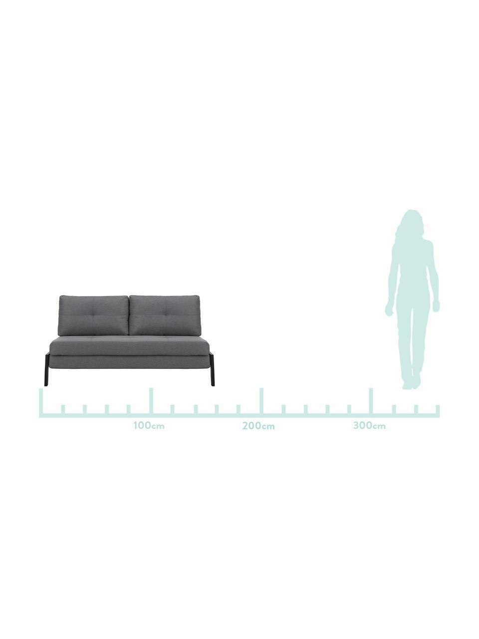 Schlafsofa Edward in Dunkelgrau mit Metall-Füßen, ausklappbar, Bezug: 100% Polyester 40.000 Sch, Webstoff Dunkelgrau, B 152 x T 96 cm