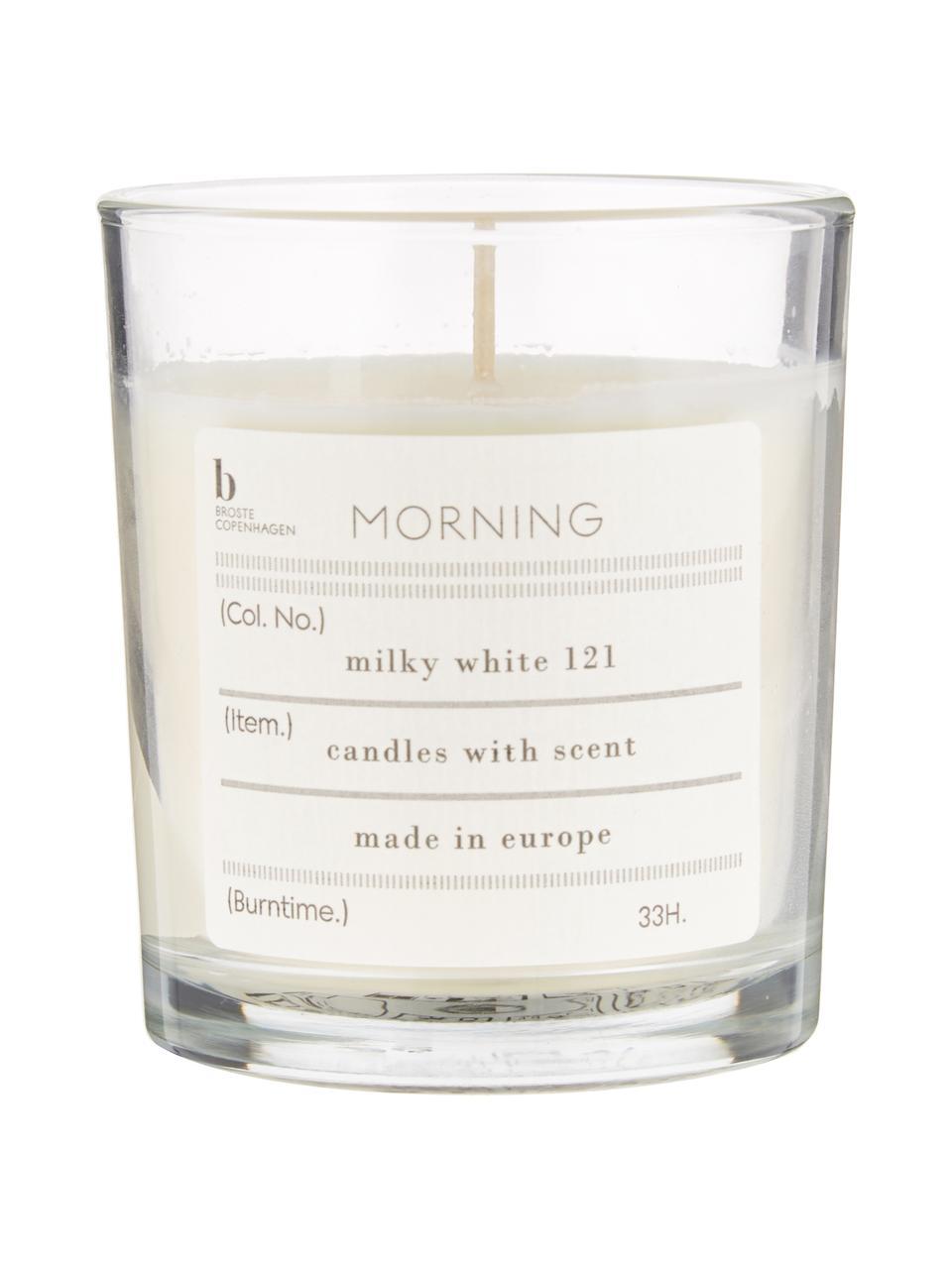 Duftkerze Morning (Grapefruit), Natürliches Sojawachs, Glas, Grapefruit, Ø 8 x H 8 cm