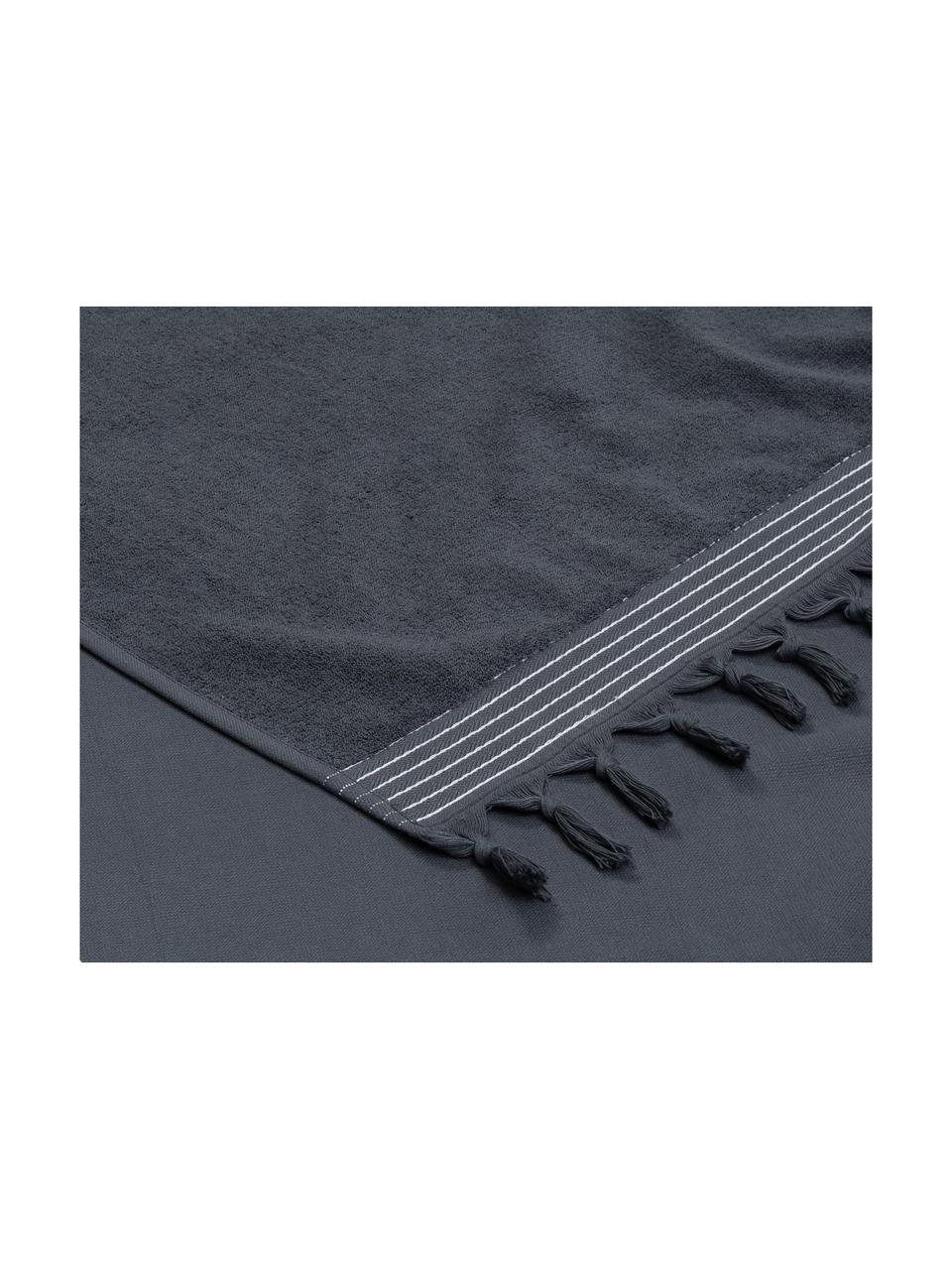 Ręcznik plażowy Soft Cotton, Antracytowy, biały, S 100 x D 180 cm