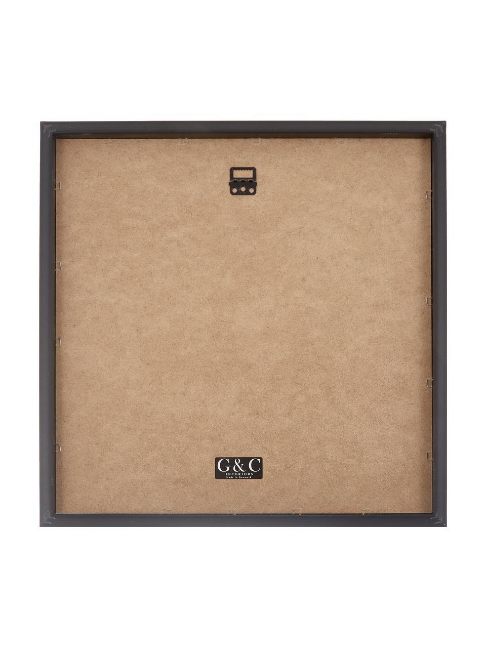 Impression numérique encadrée Akt Lady IV, Image: noir, beige Cadre: noir