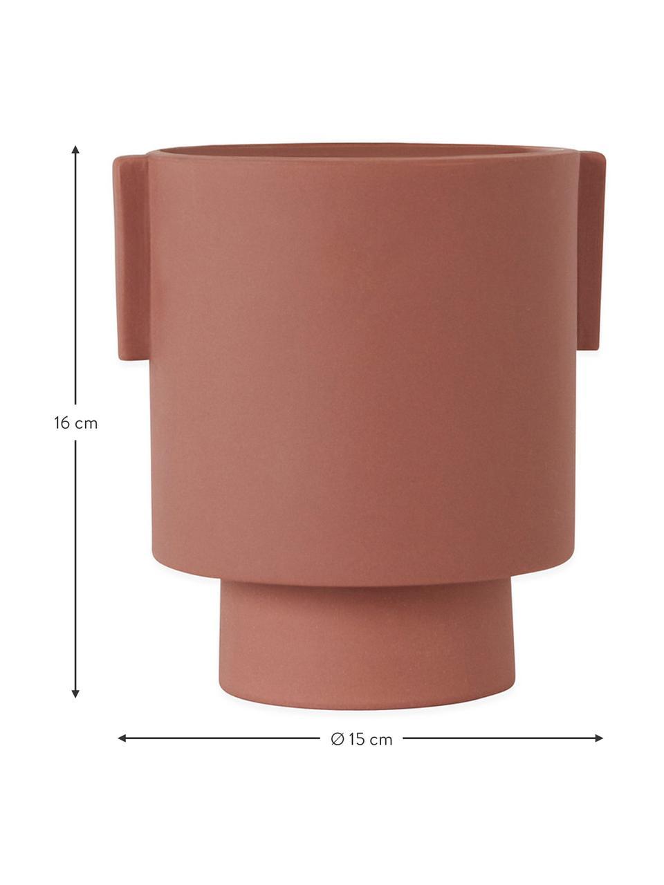 Ręcznie wykonana osłonka na doniczkę z ceramiki Ika, Ceramika, Terakota, Ø 15 x W 16 cm