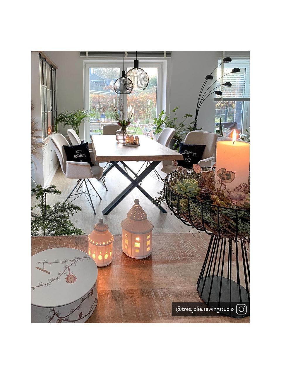 Hanglamp Aver van metaal, Lampenkap: gelakt staal, Baldakijn: kunststof, Zwart, Ø 30  x H 35 cm