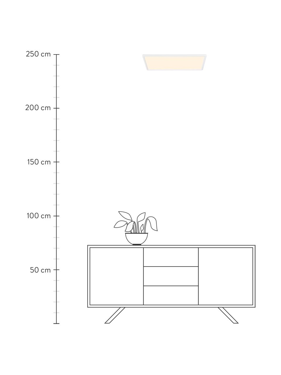 Dimmbares LED-Panel Harlow, Lampenschirm: Kunststoff, Weiß, 60 x 3 cm