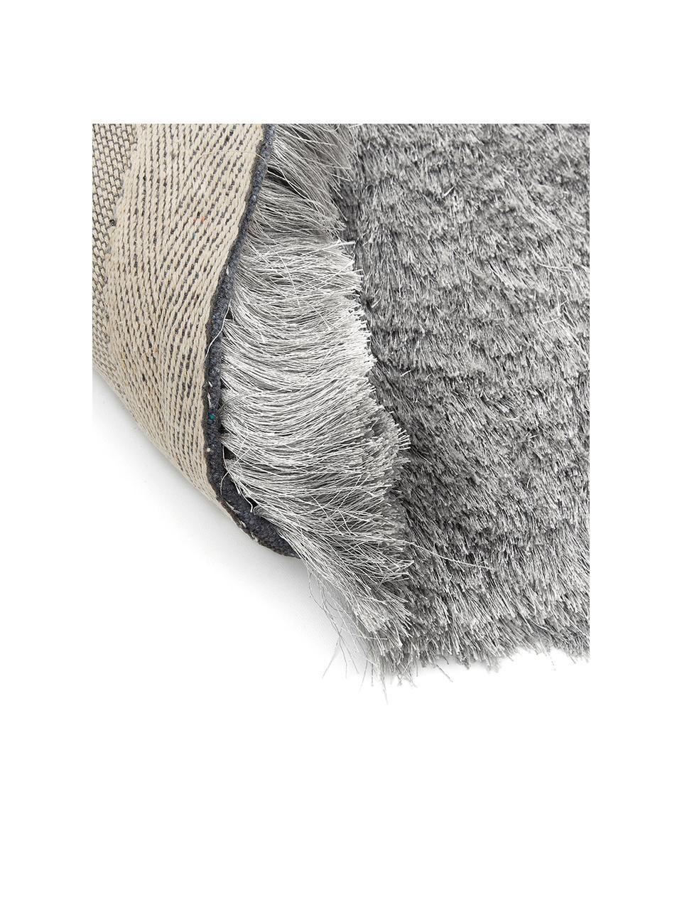 Okrągły dywan z wysokim stosem z połyskiem Jimmy, Jasny szary, Ø 200 cm  (Rozmiar L)
