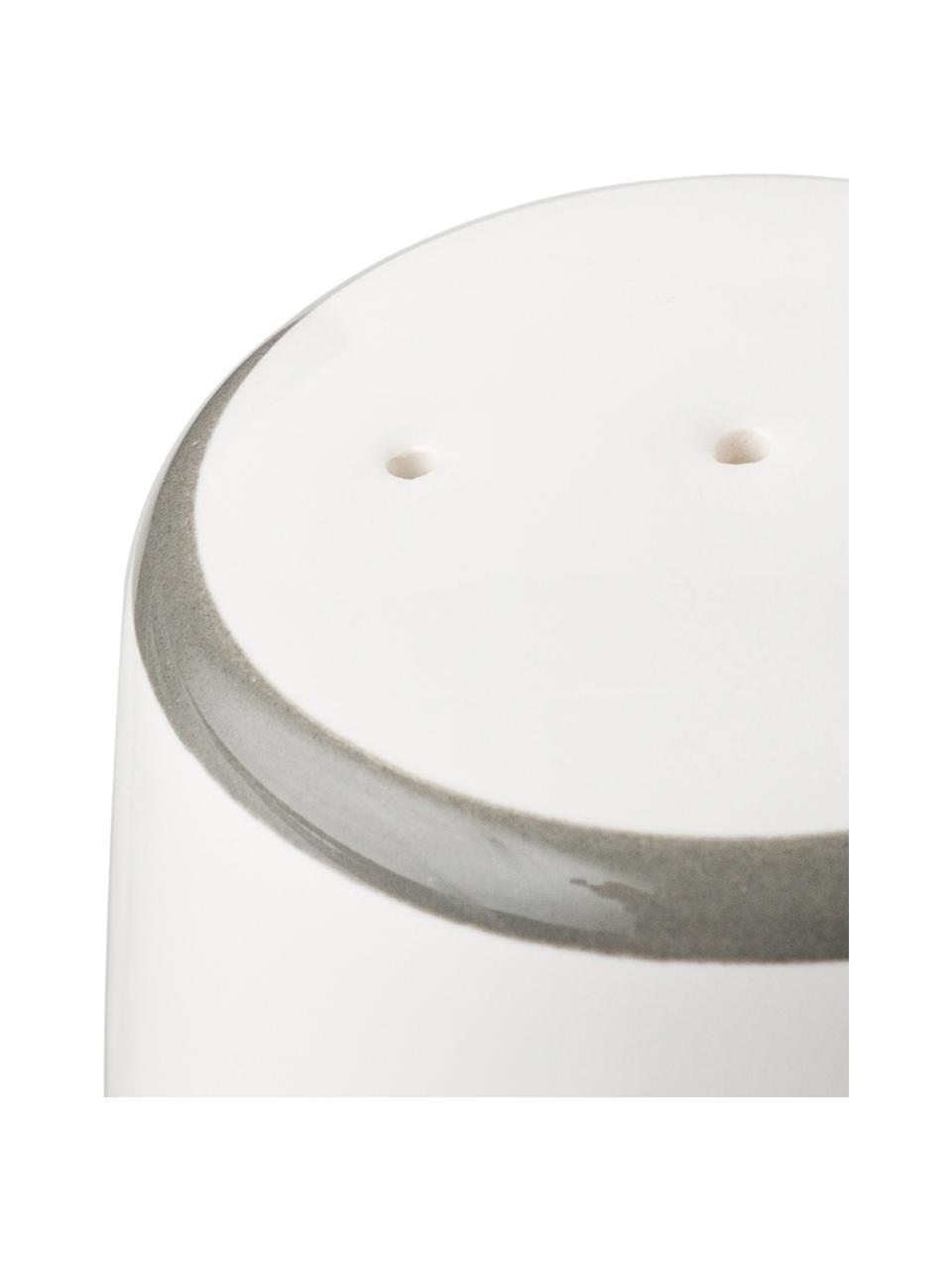 Ręcznie malowana pieprzniczka Classic Grauer Hirsch, Ceramika, Szary, biały, S 4 x W 6 cm