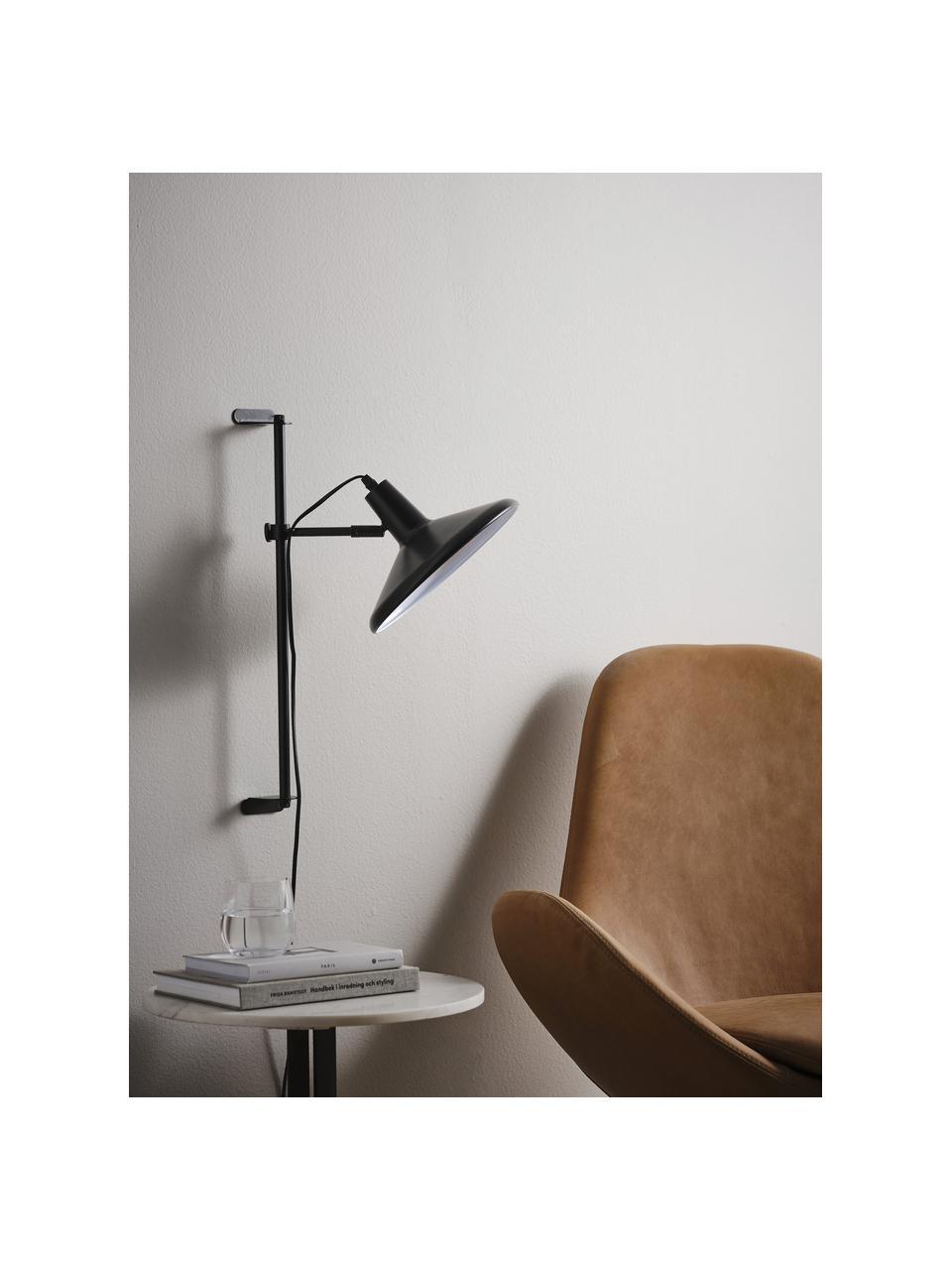 Kinkiet z wtyczką Twiss, Czarny, Ø 25 x W 50 cm