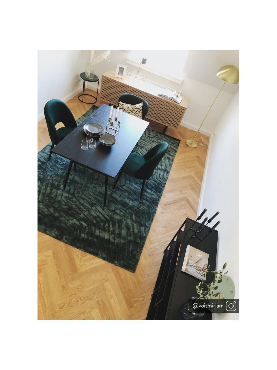 Silla de terciopelo Rachel, Tapizado: terciopelo (tapizado de p, Patas: metal con pintura en polv, Terciopelo verde oscuro, An 53 x F 57 cm