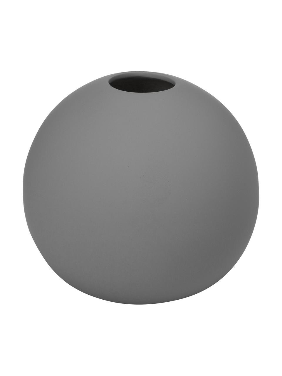 Ręcznie wykonany wazon Ball, Ceramika, Szary, Ø 10 x W 10 cm