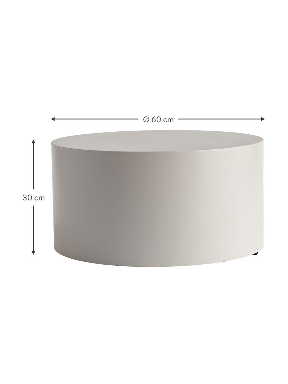 Runder Metall-Couchtisch Metdrum in Hellgrau, Metall, Hellgrau, Ø 60 x H 30 cm