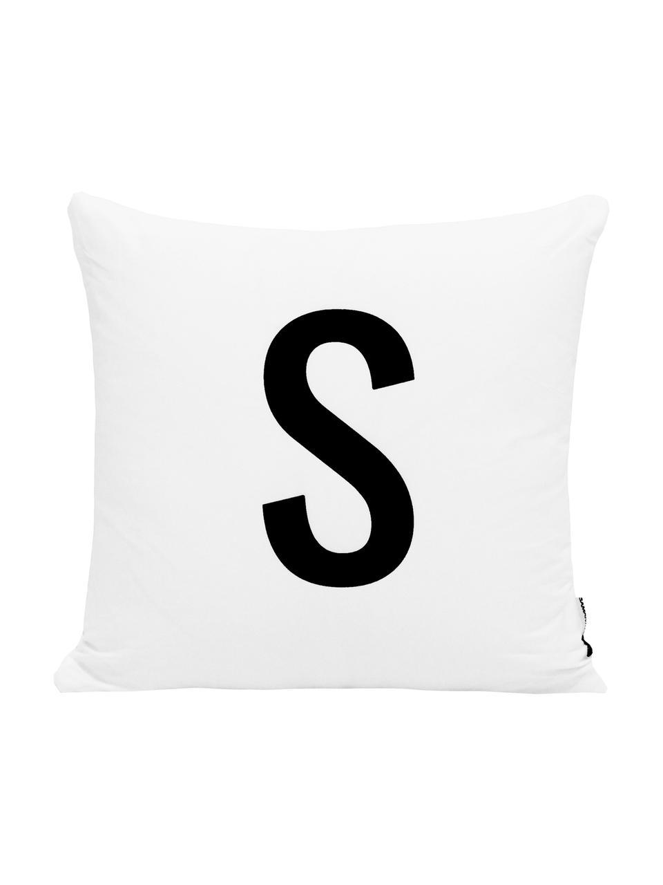 Kissenhülle Alphabet (Varianten von A bis Z), 100% Polyester, Schwarz, Weiß, Variante Z